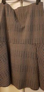 NY & Company skirt brn/grey plaid szXL